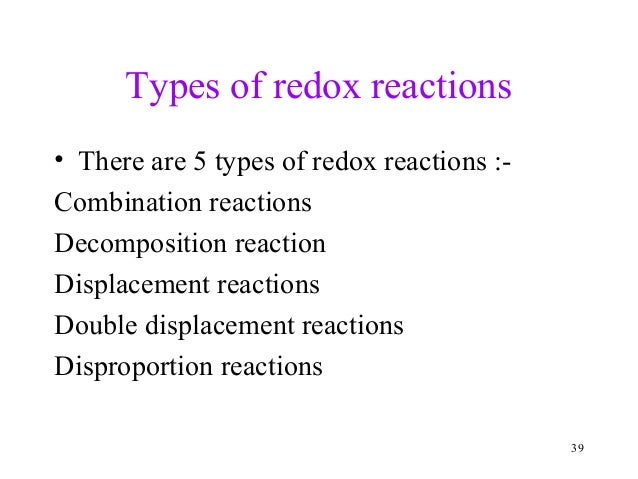 Chapter 8 Redox Reactions Ppt For Class 11 Cbse