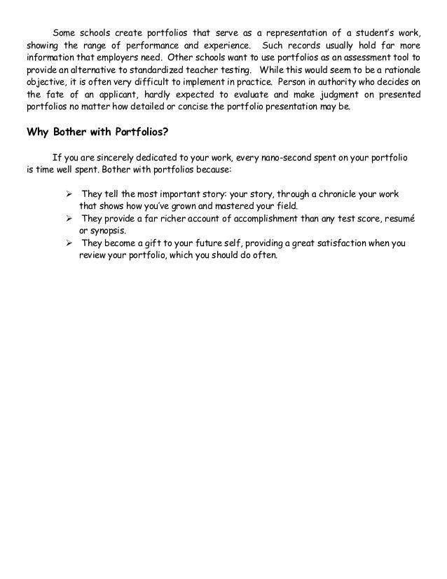 100 portfolios differ from resumes because a portfolio