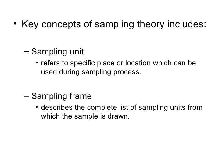 Chapter 8-SAMPLE & SAMPLING TECHNIQUES