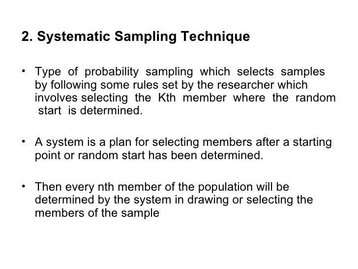 sampling design and technique thesis Design techniques for a class of multirate sampled data control systems a thesis presented to the faculty of the division of graduate studies and research.