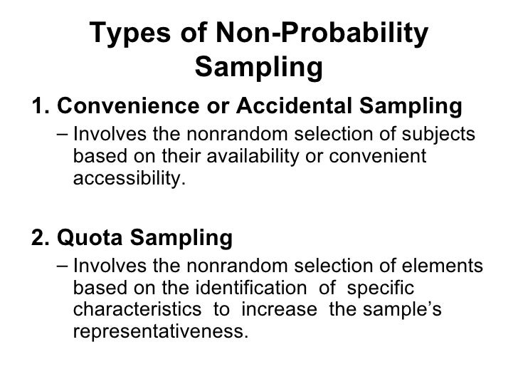 Probability and non probability sampling-research methods-handouts.
