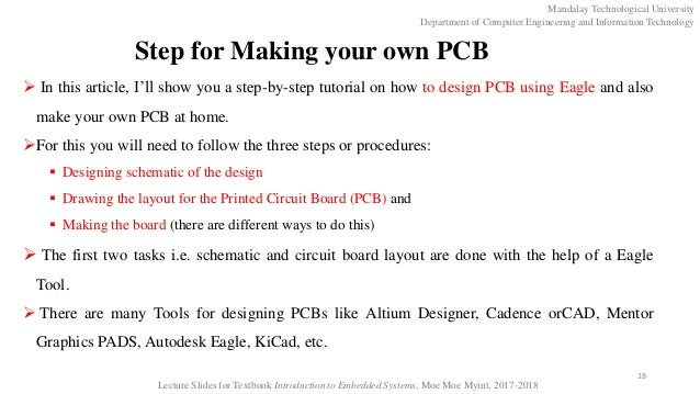 Schematic and PCB Design Using Eagle