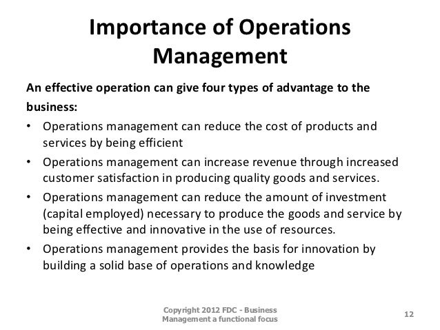 """objective importance of operation management Overview of productivity and scope,nature and objective of operation management  productivity and operation management  importance and problems of operation."