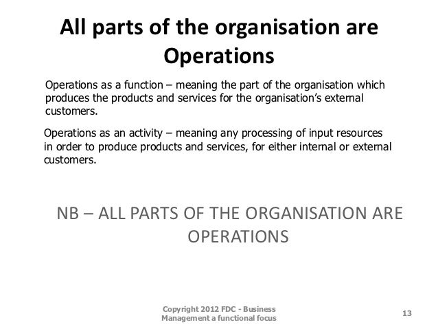 Operations Management – Chapter 2
