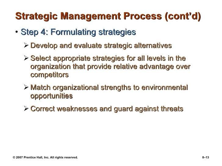 Chapter 8 Strategic Management Ppt08