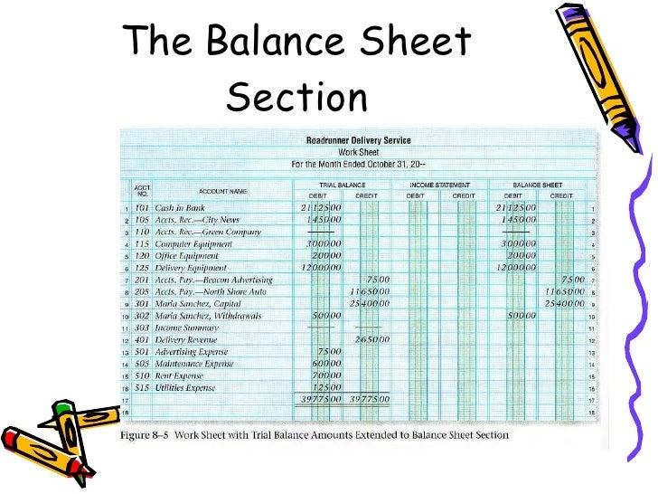 chapter 8 the six column work sheet