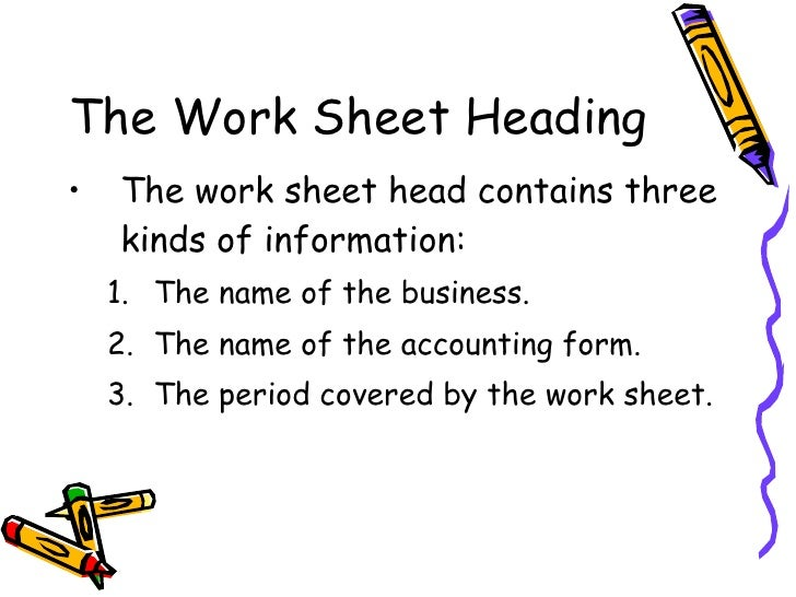 Chapter 8 the six column work sheet