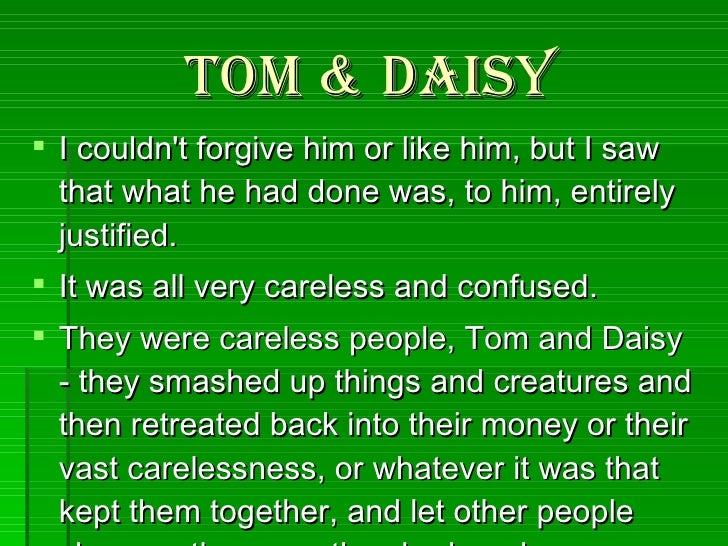 they were careless people tom and daisy
