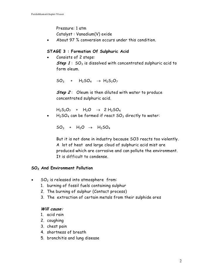 Chapter 9 Manufacture Substances