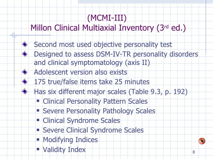 millon health-related inventory