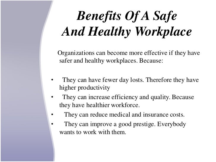 the importance of health and safety in the workplace Keep learning what is workplace safety what are good topics for workplace safety bulletin boards why is health and safety important in the workplace.