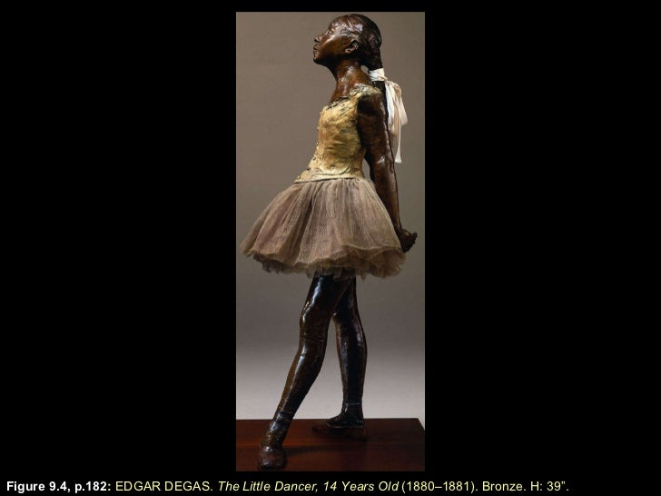 "Figure 9.4, p.182 :  EDGAR DEGAS.  The Little Dancer, 14 Years Old  (1880–1881). Bronze. H: 39 "" ."