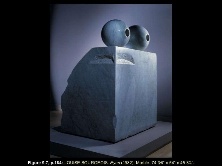 "Figure 9.7, p.184 :  LOUISE BOURGEOIS.  Eyes  (1982). Marble. 74   3⁄4 "" x  54 "" x  45   3⁄4 "" ."