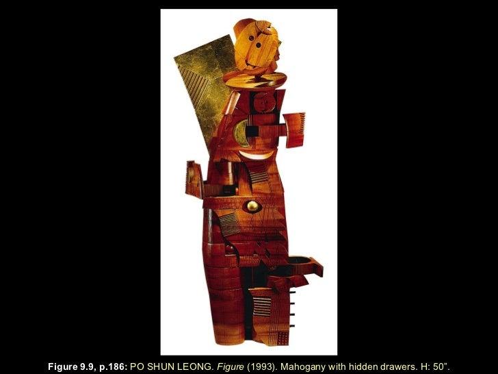 "Figure 9.9, p.186 :  PO SHUN LEONG.  Figure  (1993). Mahogany with hidden drawers. H: 50 "" ."