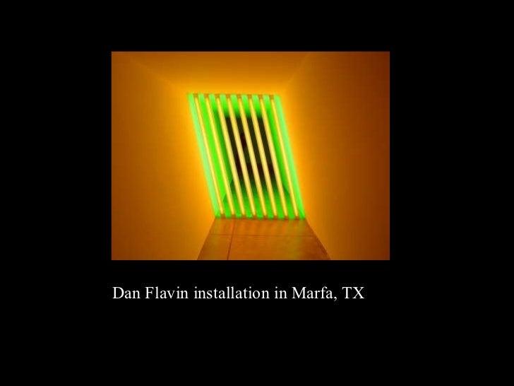 Dan Flavin installation in Marfa, TX