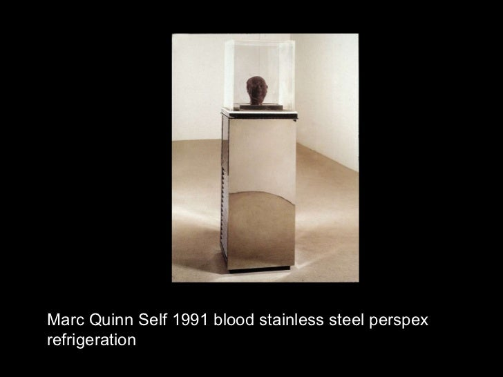Marc Quinn Self 1991 blood stainless steel perspex refrigeration