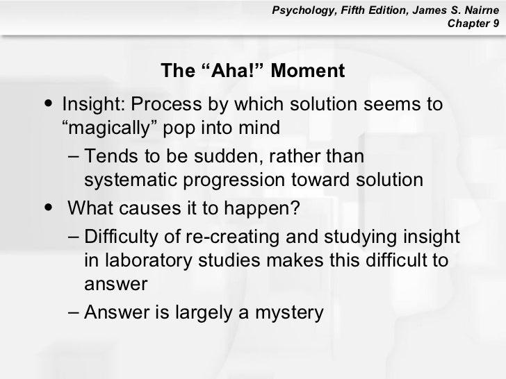 Aha Moments Sayings: Psychology 101: Chapter 9