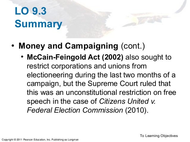 essays on campaign finance reform Free essay: madness is finishing something again and again, however, needing an alternate consequence that really well depicts campaign fund change in.