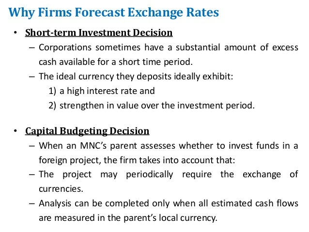 Exchange rate investment