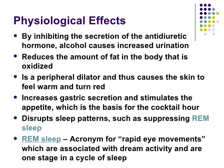 physiological effects of alcohol pdf