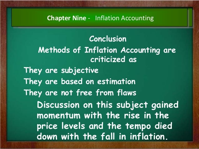 inflation accounting Hey people am writing this nov final can anyone provide notes for inflation accounting or answers for problems in institute material pls - final.