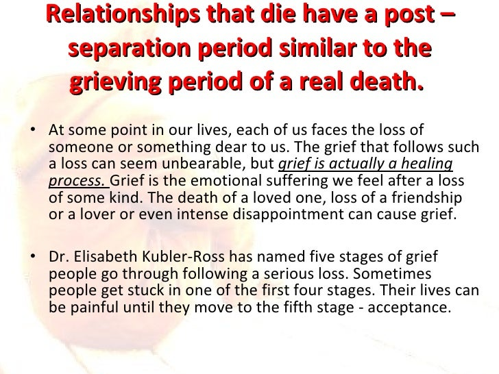 Stages Of Come unstuck And Loss Relationships