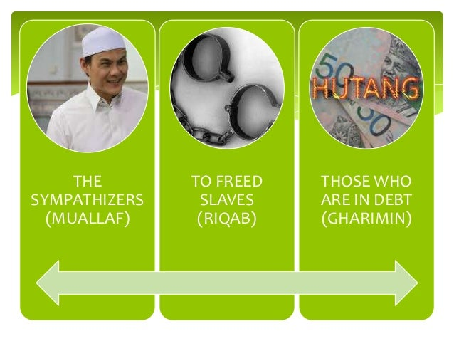 THE SYMPATHIZERS (MUALLAF)  TO FREED SLAVES (RIQAB)  THOSE WHO ARE IN DEBT (GHARIMIN)