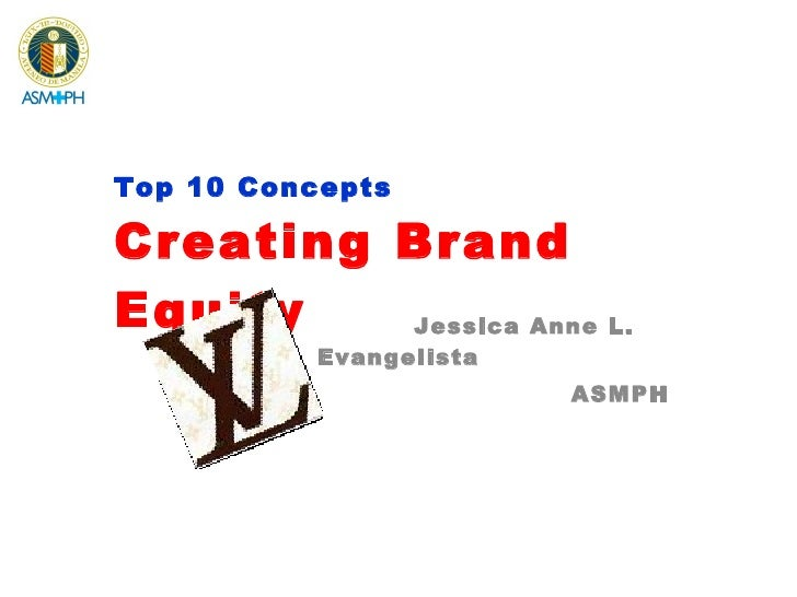 Top 10 Concepts Creating Brand Equity Jessica Anne L. Evangelista ASMPH