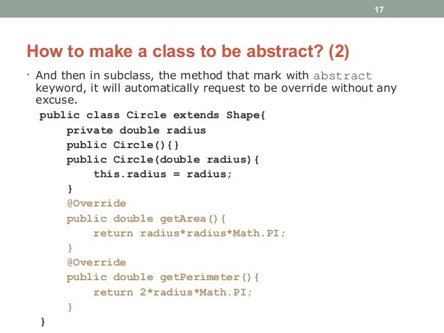Java - Abstraction