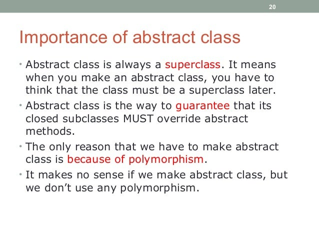 abstract and why is an abstract important