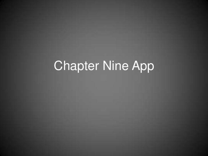 Chapter Nine App<br />
