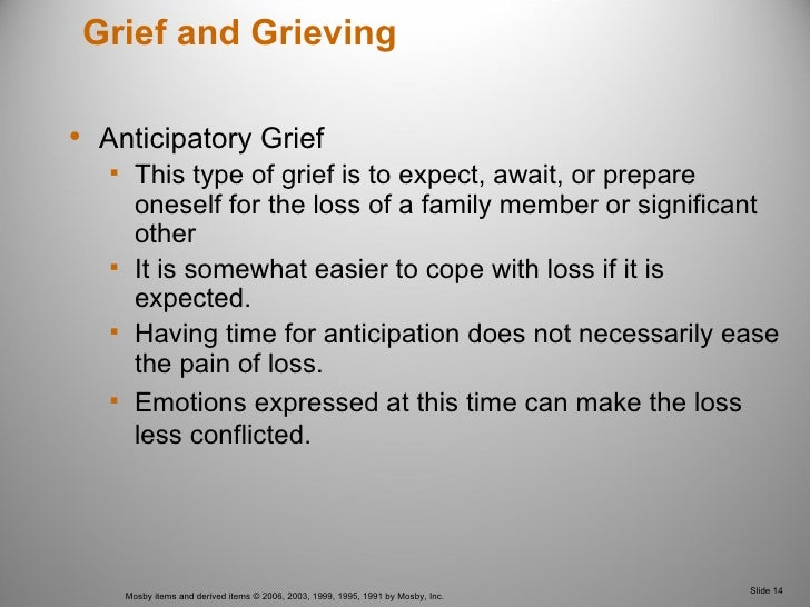 grief and loss nursing Bereavement is the period of grief and mourning after a death when you grieve, it's part of the normal process of reacting to a loss you may experience grief as a.
