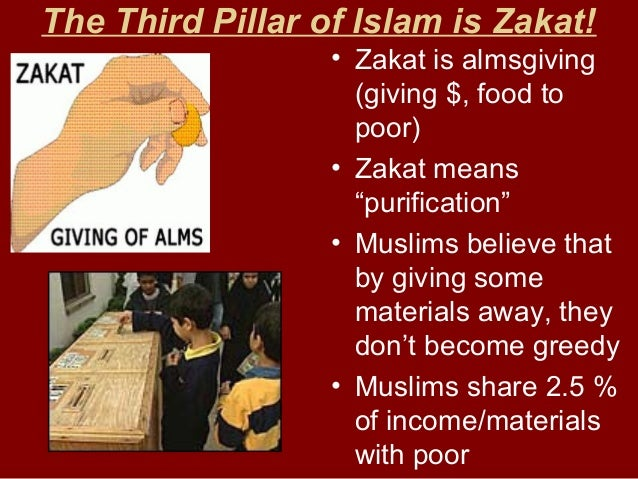 Zakat gives funding to… • Building fountains • Soup kitchens • Clothing, shelter for poor • Hospitals, orphanages • Strand...