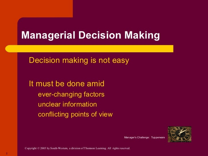 managment decision Management styles managers  leader permits subordinates to take part in decision making and also gives them a considerable degree of autonomy in.