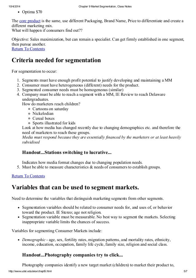 segmentation notes Note: all classes in this course are important but lecture 7 market segmentation & how to do primary customer research author: aulet, bill | anderson, howard.