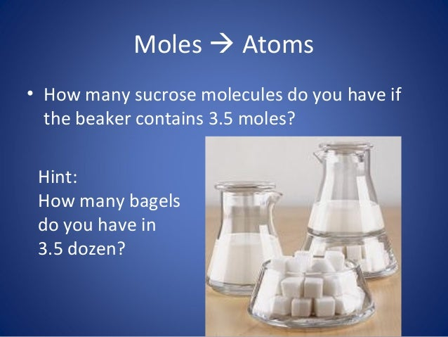 how many moles in my name The mole & molar mass  6022 x 10 23 is so important in chemistry that it has a name it is called avogadro's number and has the symbol n it is so named in honor.