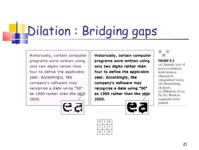 21Dilation : Bridging gaps