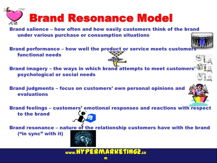 Brand Resonance ModelBrand salience – how often and how easily customers think of the brand   under various purchase or co...
