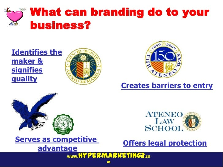 What can branding do to your     business?Identifies themaker &signifiesquality                            Creates barrier...