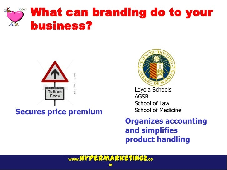 What can branding do to your   business?                              Loyola Schools                              AGSB    ...