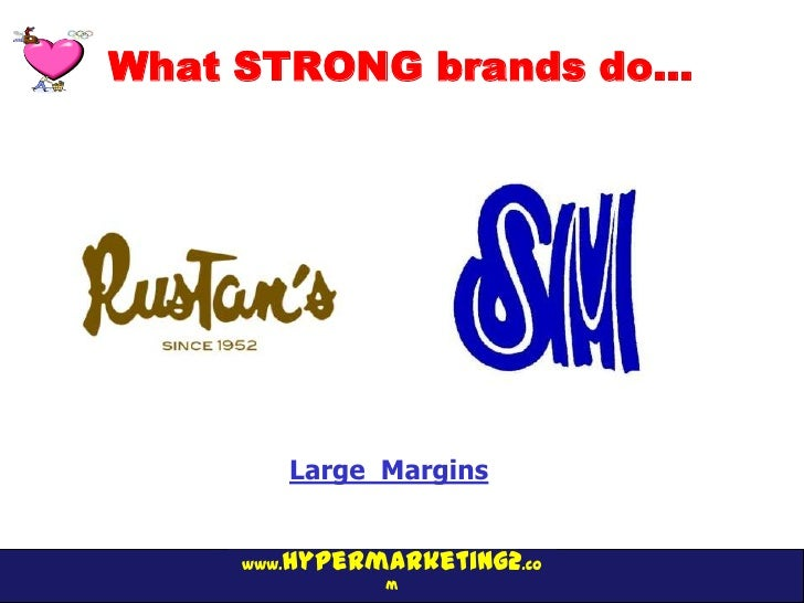 What STRONG brands do…            Large Margins        hypermarketing2.co     www.                  m