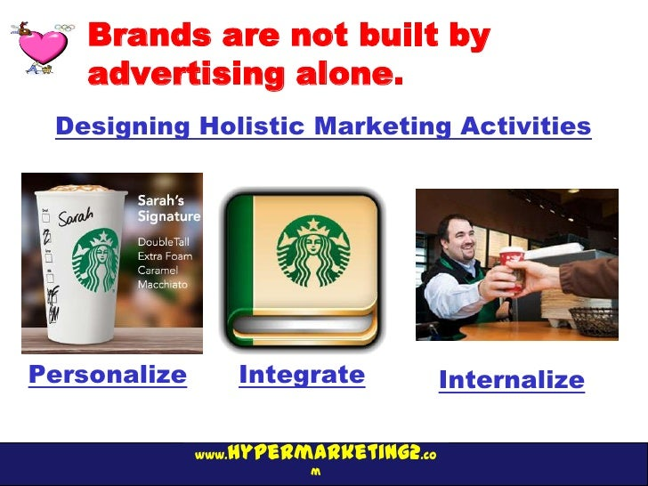 Brands are not built by    advertising alone. Designing Holistic Marketing ActivitiesPersonalize          Integrate       ...