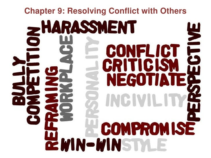 Chapter 9<br />Chapter 9: Resolving Conflict with Others<br />
