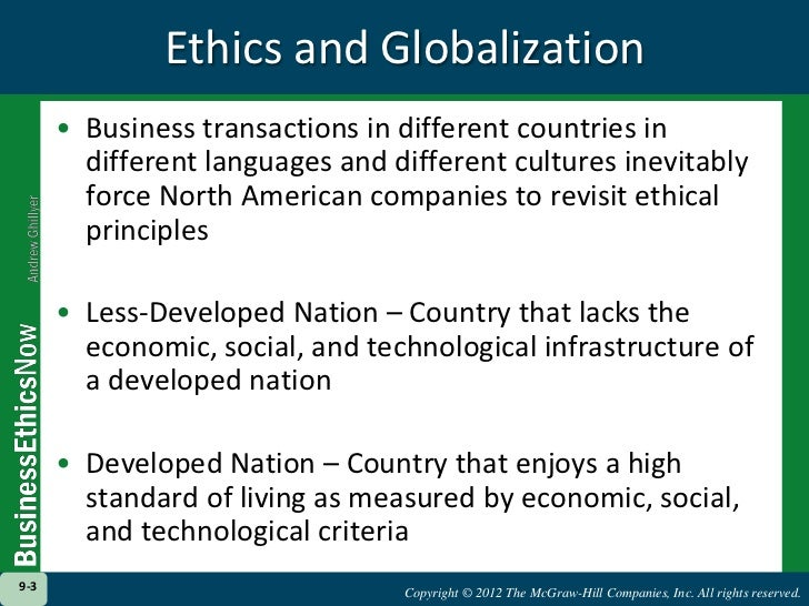 Ethical Issues in Globalization