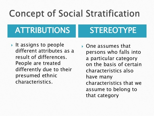 social stratification is a concept that refers to