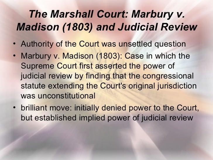 Marbury V Madison Essays (Examples)