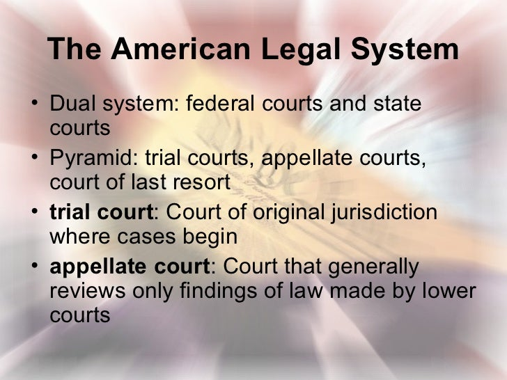 a look at the american federal justice system and the structure of the federal judiciary Learn about the us judicial system, federal courts, the us supreme court and   let's start by looking at the essential elements of the us judicial system.