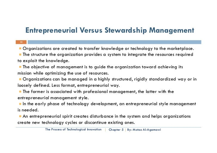 Technology Management Image: Essential Of Technology Entrep. & Innovation- Chapter Five
