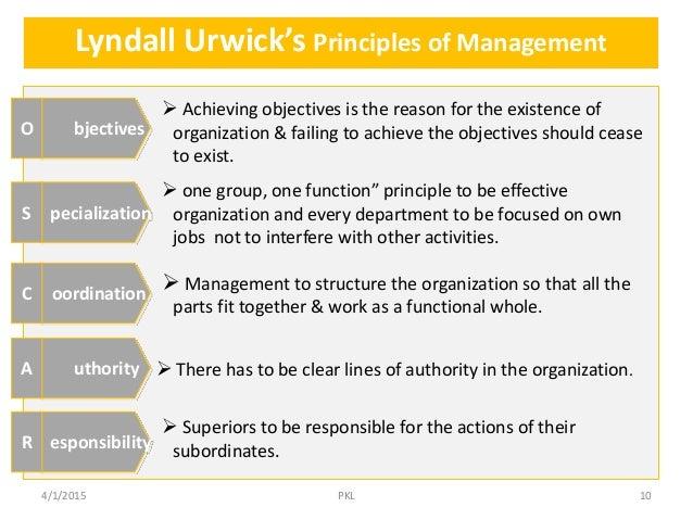 Significant Principles of Management Essay