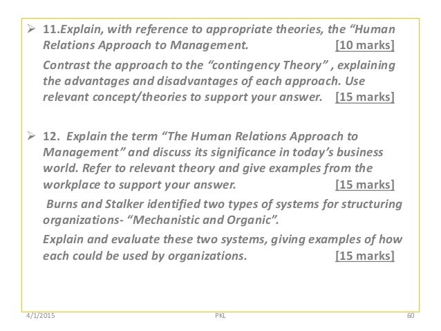 compare and contrast the theories of scientific management with that of the human relations manageme Human resource management (hrm), the management of work and people   subject: business and management, human resource management,  organizational theory  in contrast to the previous chapter, orlitzky's review  reveals very little  management and business performance, and the case for  big science.